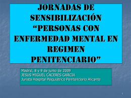 """Jornadas de Sensibilización """" PERSONAS CON"""