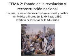 TEMA 2: Estado de la revolución y reconstrucción
