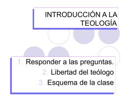 INTRODUCCIÓN BÁSICA A LA TEOLOGÍA