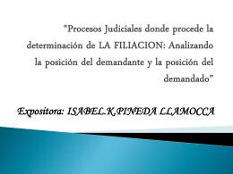Procesos Judiciales donde procede la determinación