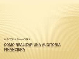 Cómo Realizar una Auditoría Financiera