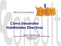 XV Convocatoria Cómo desarrollar habilidades
