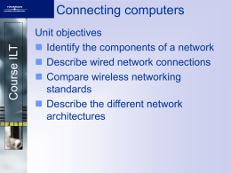 Connecting computers - Cambridge Regional College