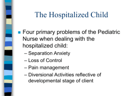 The Hospitalized Child - Florida Gulf Coast