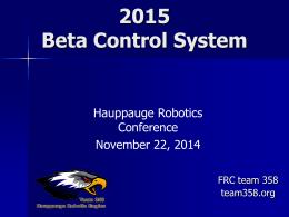 Beta Presentation 2015 v2