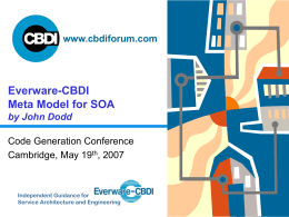 Everware-CBDI Meta Model for SOA by John Dodd -