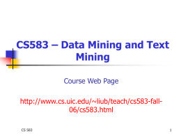 Data Mining: introduction - University of Illinois