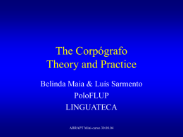 The Corpógrafo Theory and Practice