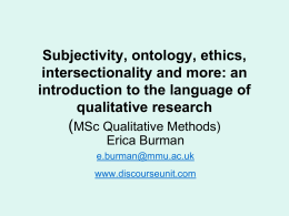 Objectivity and Subjectivity in Qualitative