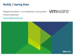 NoSQL / Spring Data