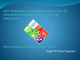 """UD7:""""Instalación y administración de servicios de"""