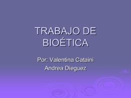 TRABAJO DE BIOÉTICA