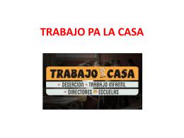 TRABAJO PA LA CASA - Clase de Historia