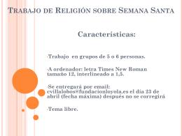 Trabajo de Religión sobre Semana Santa
