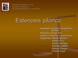 Estenosis pilórica