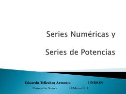 Series y Series de Potencia
