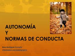 AUTONOMÍA Y NORMAS DE CONDUCTA