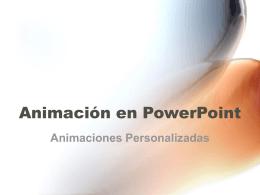 Animación en PowerPoint