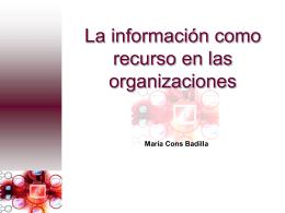 La información como recurso en las organizaciones
