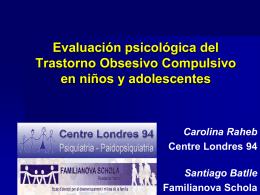 Evaluación psicológica del Trastorno Obsesivo