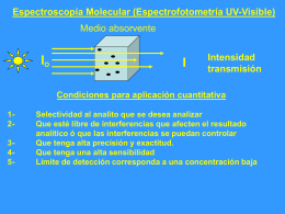 Espectroscopía Molecular (Espectrofotometría