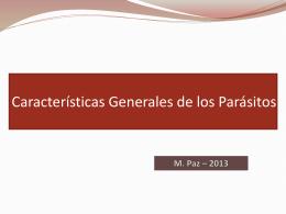Clasificación, estructura y patogenia de parásitos