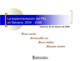 La experimentación del PEL en Navarra: 2004