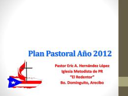 Plan Pastoral Año 2012