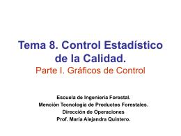 Tema 8. Control Estadístico de la Calidad. Parte