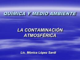 Quìmica y medio ambiente
