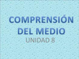 COMPRENSIÓN DEL MEDIO