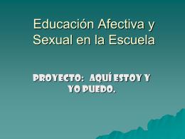 Educación Afectiva y Sexual en la Escuela