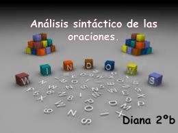 Análisis sintáctico de las frases