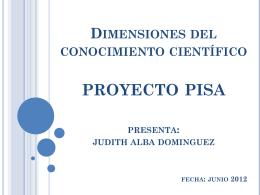 Dimensiones del conocimiento científico proyecto