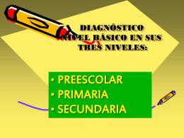 DIAGNÓSTICO NIVEL BÁSICO EN SUS TRES NIVELES: