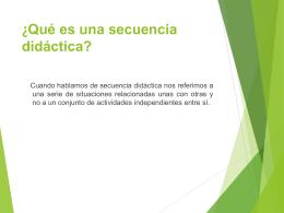 ¿Qué es una secuencia didáctica?