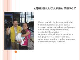 ¿Qué es la Cultura Metro