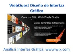 Webquest Diseño IU: www.wix.com