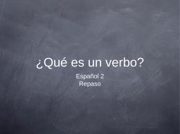 ¿Qué es un verbo?