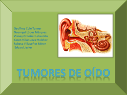 Tumores de oído