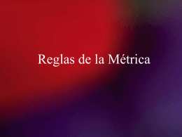 Reglas de la Métrica - South Dade Senior High