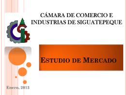 Estudio de Mercado Cámara de Comercio e Industrias