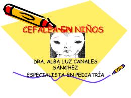 CEFALEA EN NIÑOS - Clases y Libros