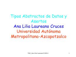 Los tipos abstractos de datos (TAD´s) y los