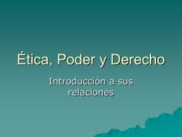 ÉTICA, PODER Y DERECHOS FUNDAMENTALES