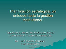 Planificación estratégica, un enfoque hacia la