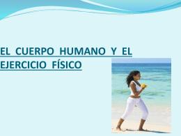 EL CUERPO HUMANO Y EL EJERCICIO FÍSICO