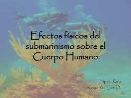 Efectos físicos del submarinismo sobre el Cuerpo