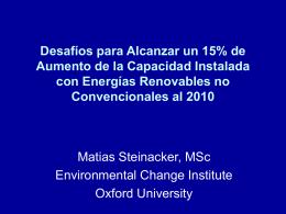 ¿Es posible alcanzar la meta Chilena de Energías