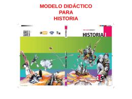 MODELO DIDÁCTICO PARA HISTORIA